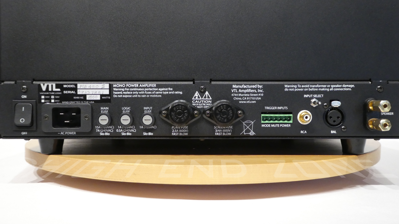 Vtl Mb 450 Series Iii Signature Monoblock Power Amplifier Set Audio Amplifiers Output 20hz 20khz 25 Thd Tetrode 425 Watts Triode 225 Into 5 Ohms Input Sensitivity Variable Between 1 2v Depending Upon Df Setting